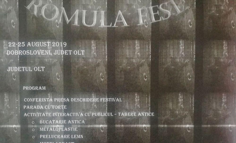 22 -25 august 2019 - Festivalul roman de la Dobrosloveni - REŞCA FESTIVAL