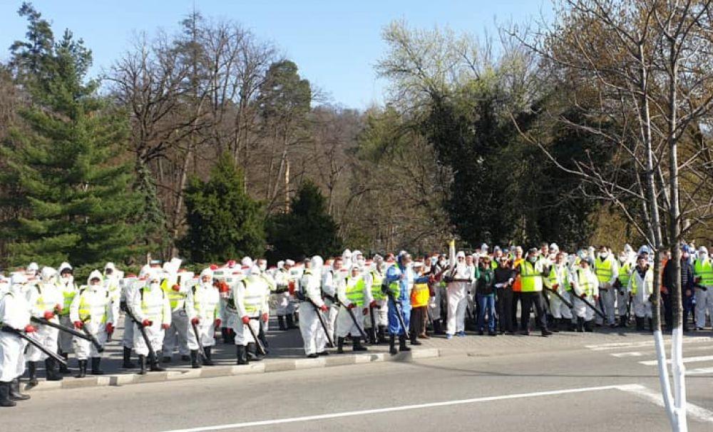 Acțiune de dezinfecție inițiată de primăria municipiului Râmnicu Vâlcea!