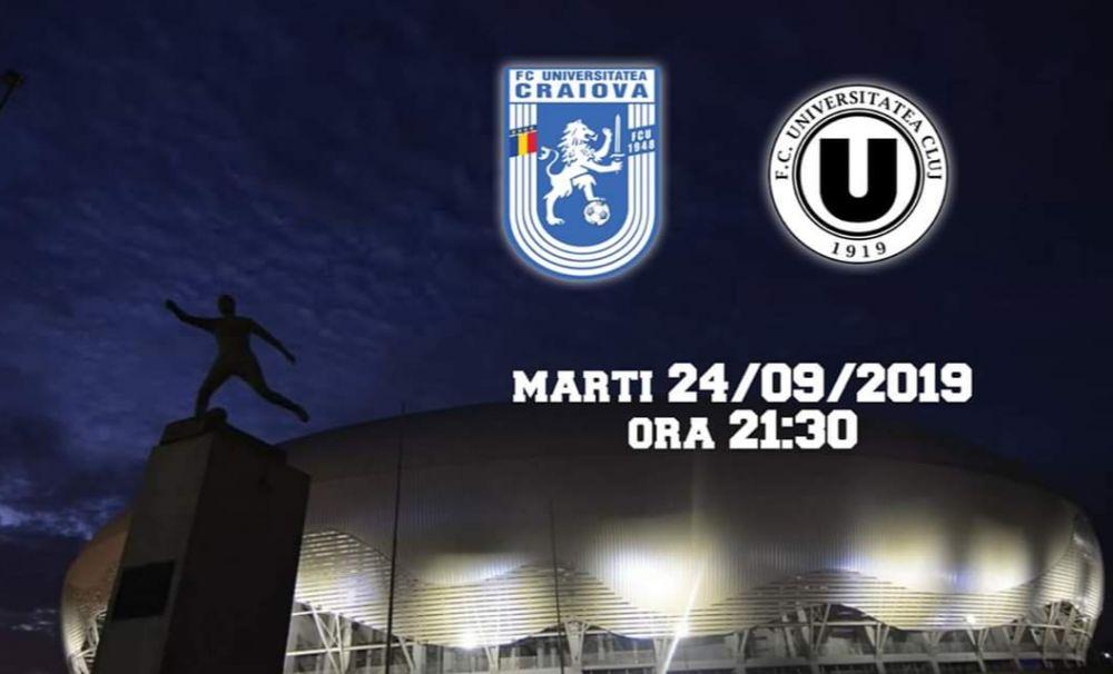 FC U Craiova - U Cluj: Biletele la meciul Știintei din Cupa României se pot cumpăra și online