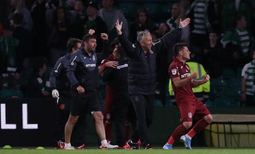 CFR Cluj și Dan Petrescu scriu istorie. Victorie cu 2-0 împotriva Celtic Glasgow. Urmează tragerea la sorți