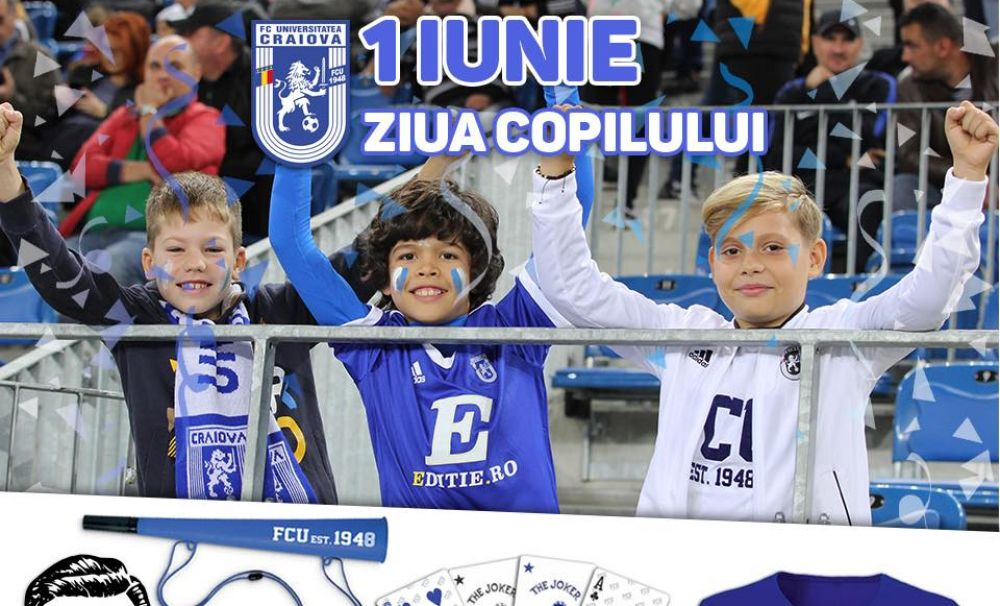 Colecția pentru copii - Colecția leuț FCU 2020! FC Universitatea Craiova lansează o nouă gamă de produse de la 1 iunie