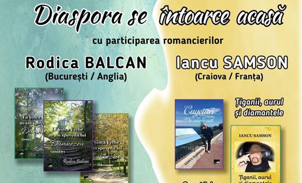 Diaspora se întoarce acasă - doi romancieri din exil își lansează cărțile la Muzeul de Artă din Craiova