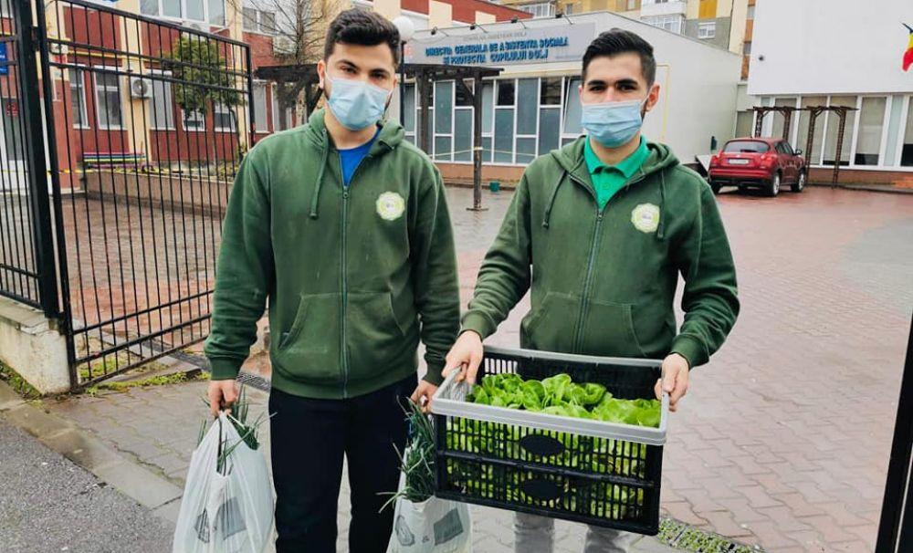 Ei sunt studenţii care livrează legume cu bicicleta la domiciliul clientului