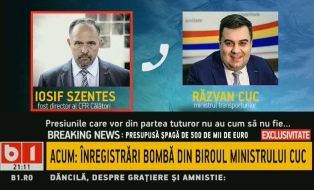 ÎNREGISTRARE BOMBĂ cu RĂZVAN CUC: 500.000 euro valorează funcția de director CFR Călători