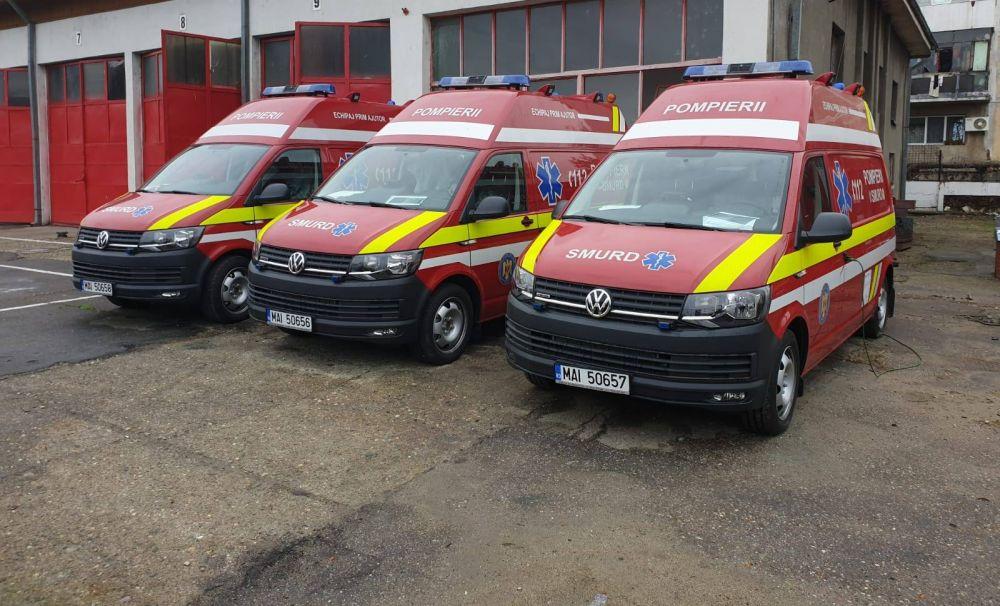 """Inspectoratul pentru Situații de Urgență """"Drobeta"""" al judetului Mehedinţi are în dotare trei noi ambulanțe SMURD tip B"""