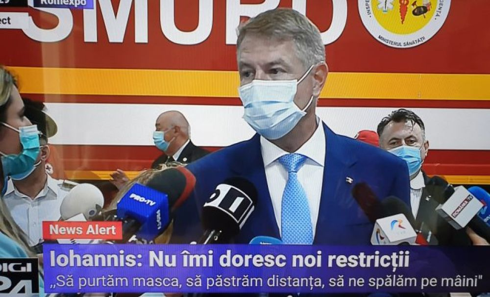 Iohannis: Școala începe la 14 septembrie. Majoritatea elevilor vor merge în instituțiile de învățământ