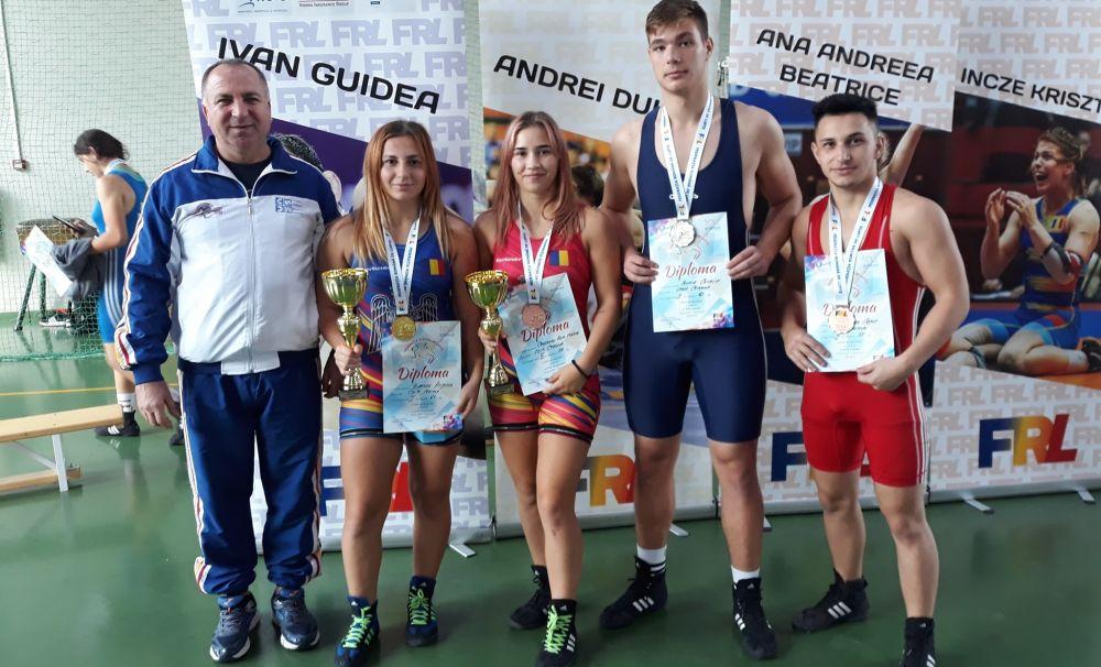 Luptătorii lui Boboșca au urcat pe podium la Cupa României