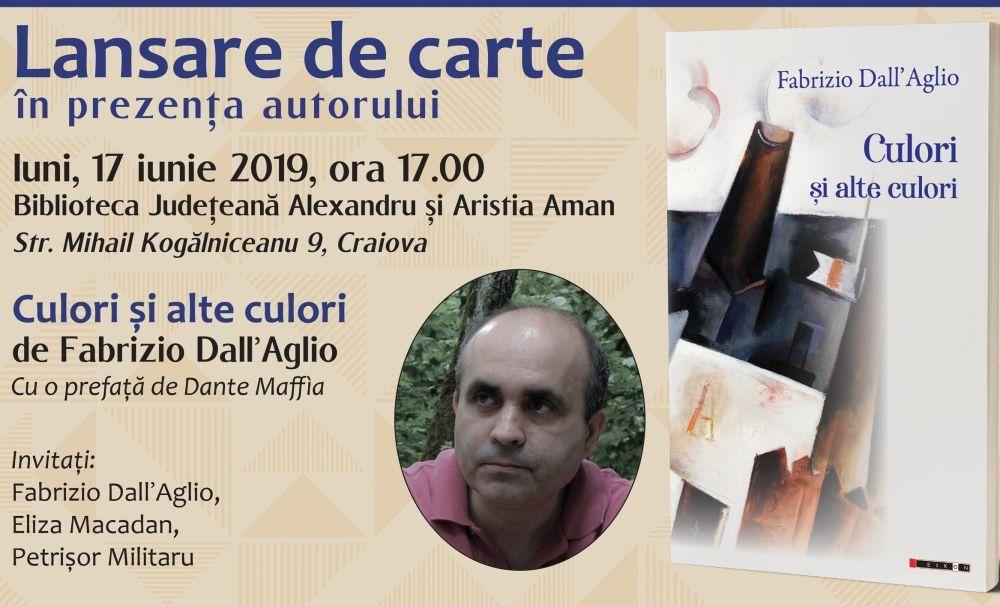 Poetul italian Fabrizio Dall Aglio lansează un volum în Craiova