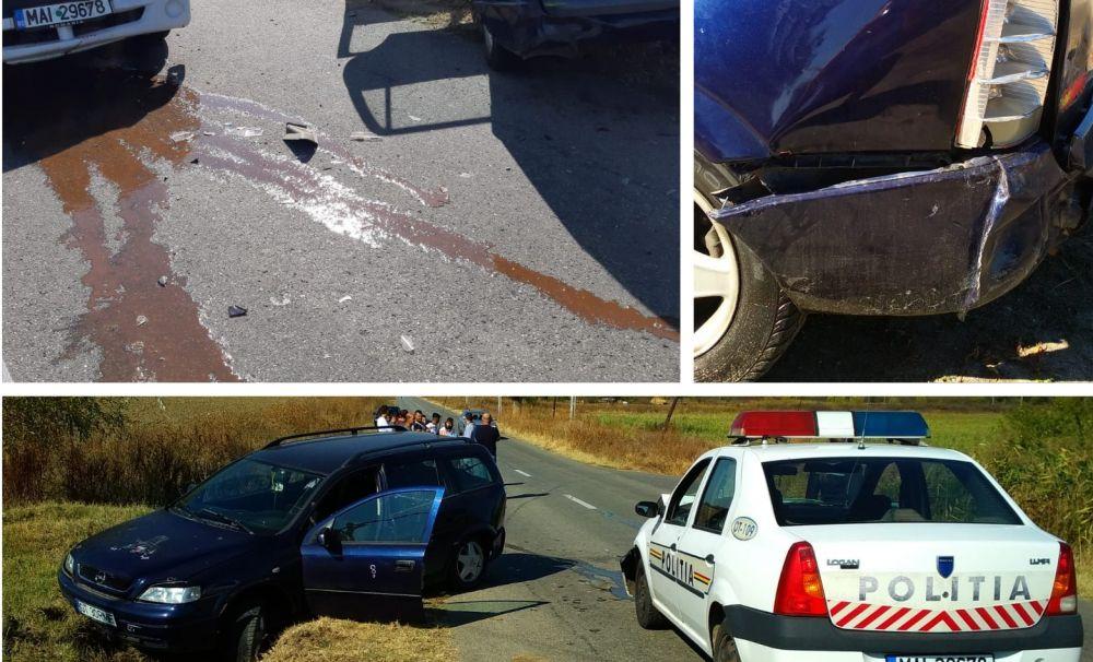 Polițiștii care au urmărit și oprit șoferul beat și fără permis, anchetați și puși să repare Loganul accidentat