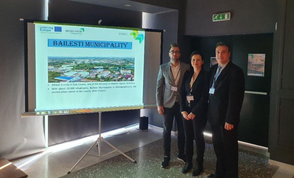 Primarul din Băileşti, stakeholder în proiectul Regio Mob, prezentat în Grecia