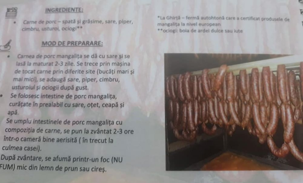 Produsele din carne de mangaliţă, în Cartea Culinară a oraşului Dăbuleni