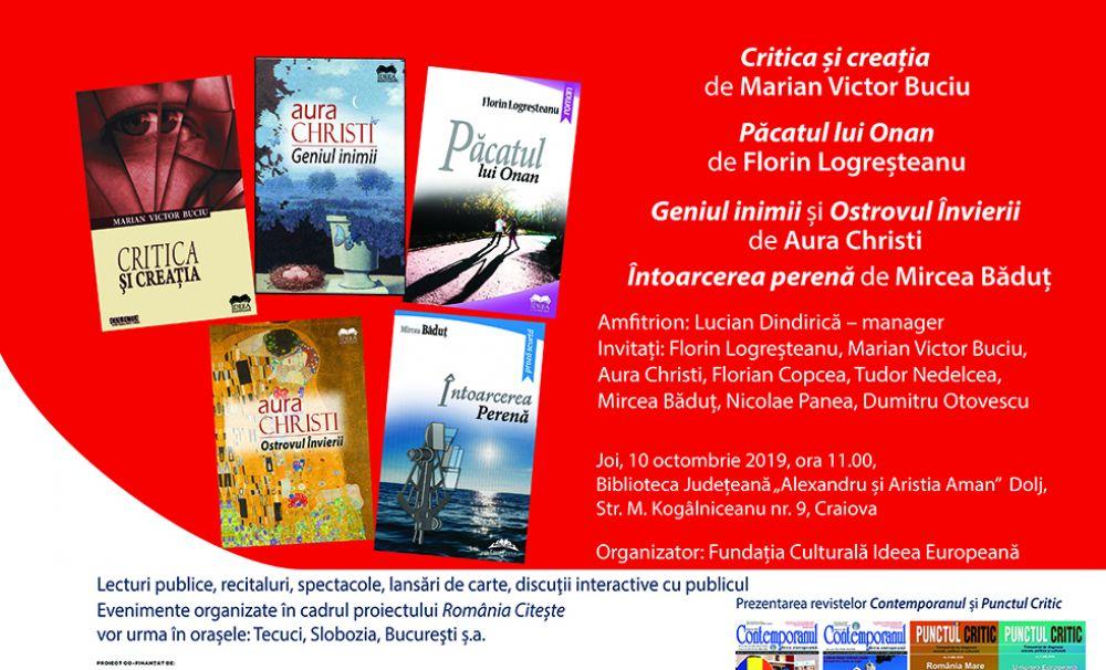 România Citește - scriitori români și străini, promovați la Craiova de Fundația Culturală Ideea Europeană