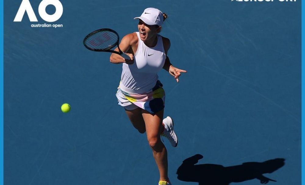 Simona Halep s-a oprit în semifinalele Australian Open. Muguruza a fost mai bună în momentele decisive