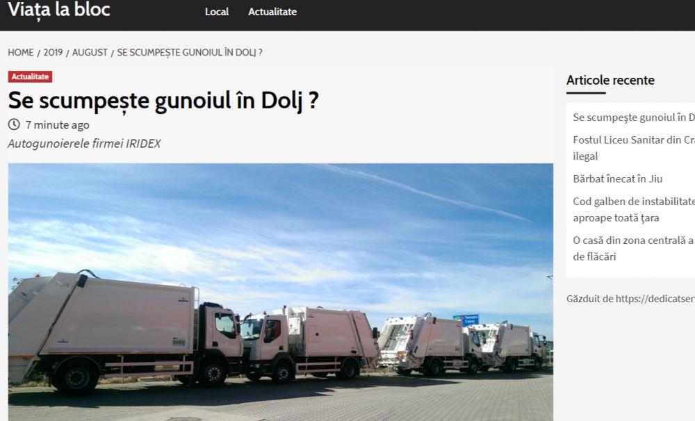 Viața la bloc: Se scumpeşte gunoiul în Dolj?