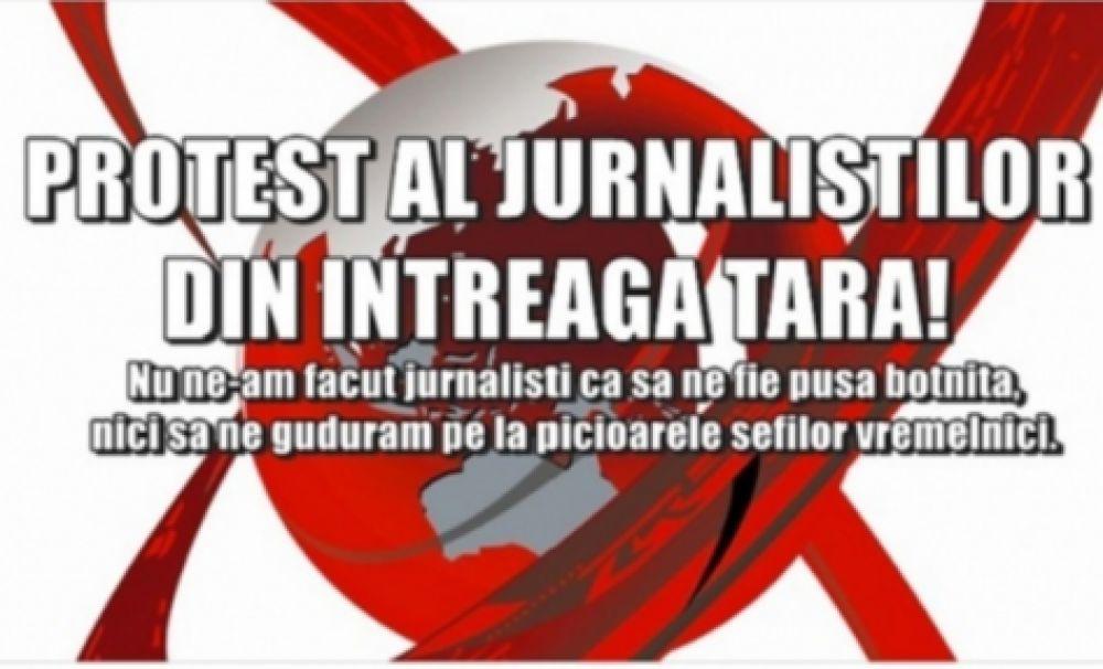 Zeci de jurnaliști protestează împotriva Trustului Realitatea Media. Colegii de breaslă se solidarizează